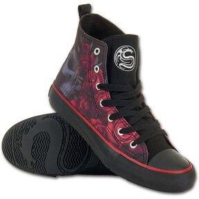 Női fekete tornacipő - Véres rózsák