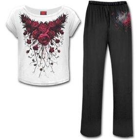 Damen Pyjama-Set Blutige Rosen