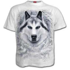 Tričko biele Biely vlk