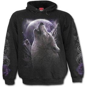 Sweatshirt mit Kapuze Wölfische Seele