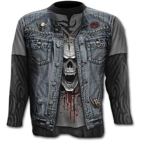 Long Sleeve Denim Vest