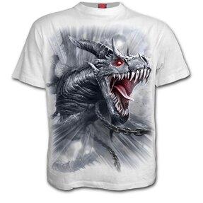 Weißes T-Shirt Drachengeheul