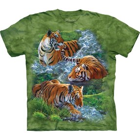 Kinder T-Shirt Spielerischer Tiger