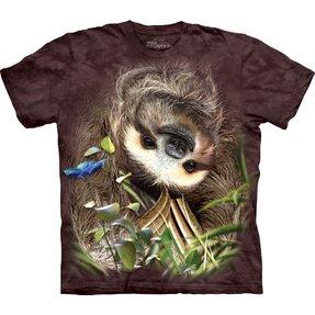 Tricou pentru copii Leneşul cu capul în jos