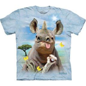 Kinder T-Shirt Nashorn mit Zunge