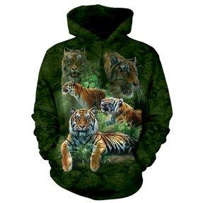 Kapucnis pulóver Nyugodt tigris