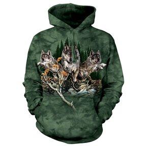 Mikina s kapucí Najdi 12 vlků 3D