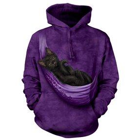Mikina s kapucňou Oddychujúce mačiatko