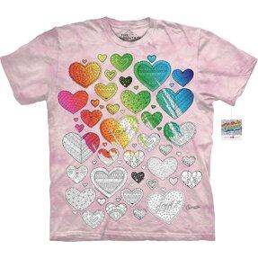 Mandala vyfarbovacie tričko Srdcia