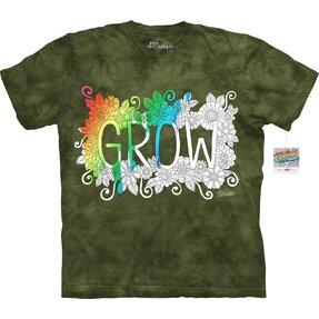 Mandala vyfarbovacie tričko Životný rast
