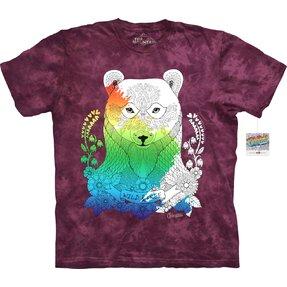 Mandala kiszínezhető póló - Medve