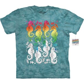 Mandala Colouring T-shirt Sea Horses