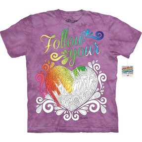 Mandala Colouring T-shirt Follow Your Heart