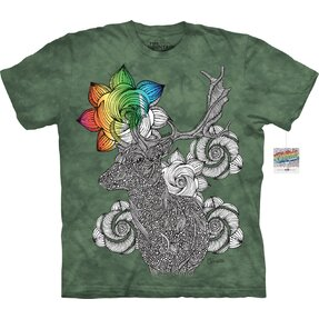 Mandala Colouring T-shirt Deer