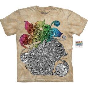Mandala vybarvovací tričko Veverka