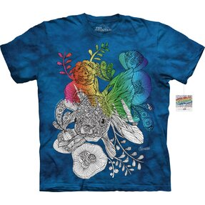 Mandala Colouring T-shirt Small Fish