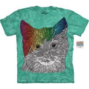 Mandala vybarvovací tričko Kočičí oči