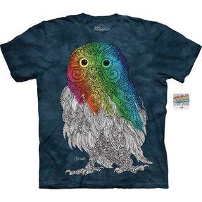 Mandala vyfarbovacie tričko Pán sova