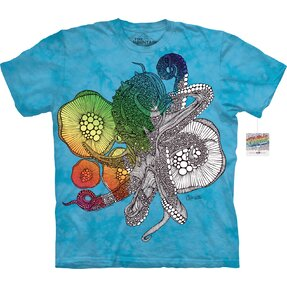 Mandala Colouring T-shirt Octopus