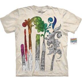 Mandala vybarvovací tričko Malování