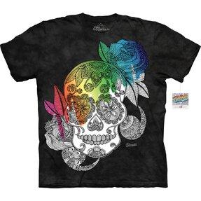 Mandala tricou de colorat Craniu dulce