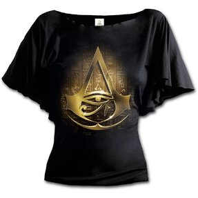 Dámske volánové tričko Assassins creed logo