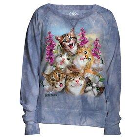 Dámská modrá mikina Bláznivé kočky