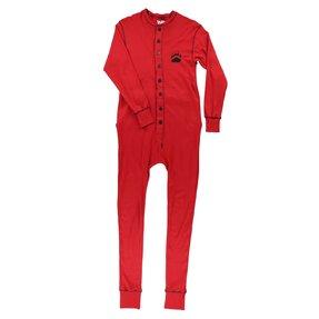 Červený pyžamový overal Medvedí odtlačok