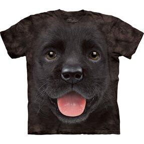 Čierne detské tričko Šteniatko labradora