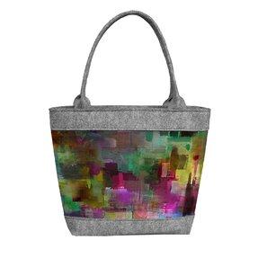 Dámská filcová kabelka Polo Abstrakt
