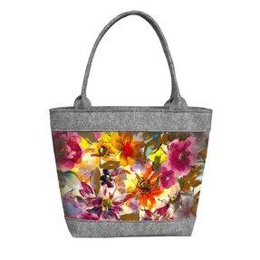 Dámská filcová kabelka Polo Barevná zahrada