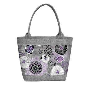 Damen Filz Handtasche Polo Violet