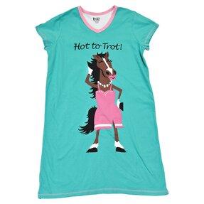 Dámska nočná košeľa s véčkovým výstrihom Trendy kôň