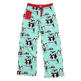 Ladies' Blue Pyjamas Trousers Sleeping Penguins
