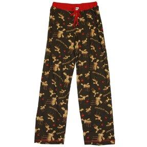 Dámske pyžamové nohavice Čokoládový los