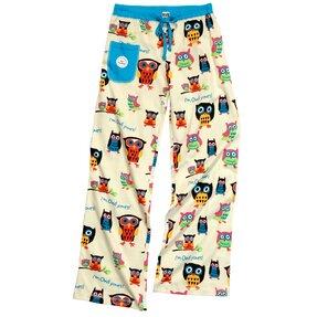 Dámske pyžamové nohavice Sovy
