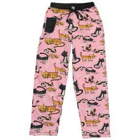 Dámske ružové pyžamové nohavice Mačky