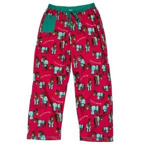 Dámske ružové pyžamové nohavice Náročné rána