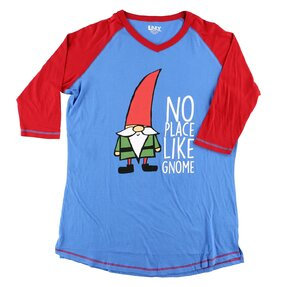 Ladies' Sleep T-shirt with 3/4 Sleeve Gnome