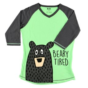 Ladies' Sleep T-shirt with 3/4 Sleeve Tired Bear