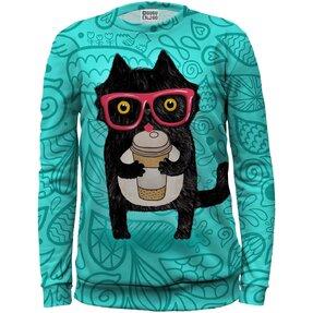 Gyermek pulóver Macska kávéval