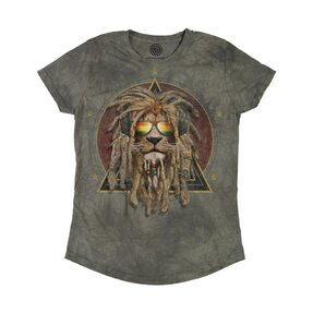 Ladies' Tri-blend T-shirt Rasta Jahman