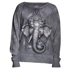 Felpa grigia da donna Ganesha