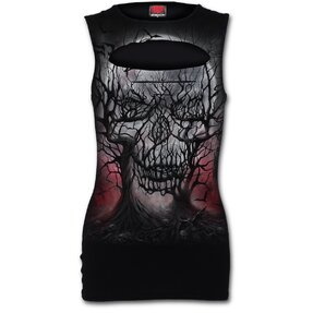 Ladies' Tank Top Laser Cut with Design Furious Crows