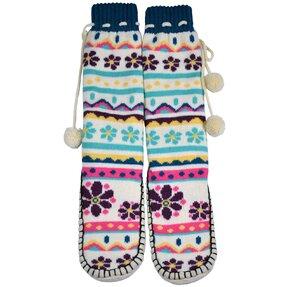 Ponožkové papuče Jarní květiny