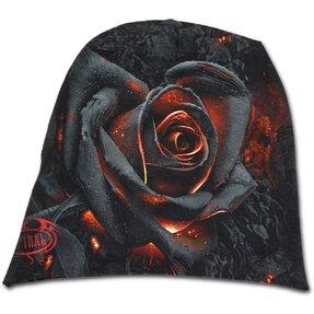 Beanie čiapka s motívom Ohnivá ruža