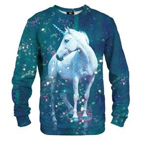 Sweatshirt White Unicorn