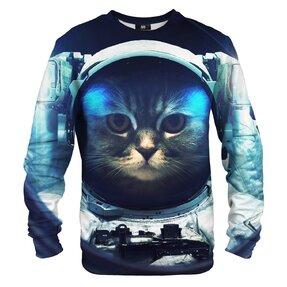 Mikina bez kapucne Kozmonaut mačka