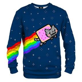 Mikina bez kapucne Nyan cat