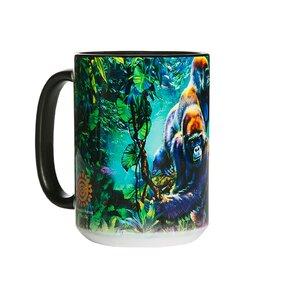 Originální hrníček s motivem Gorily v pralese